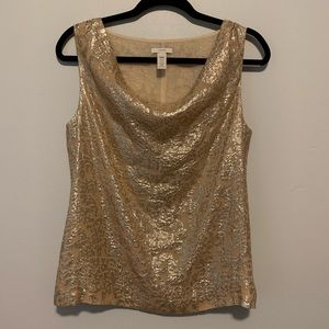 Women's J. Crew Gold embellished sleeveless blouse